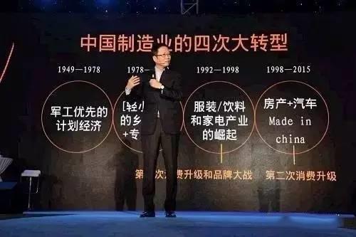 中国制造业四次大转型